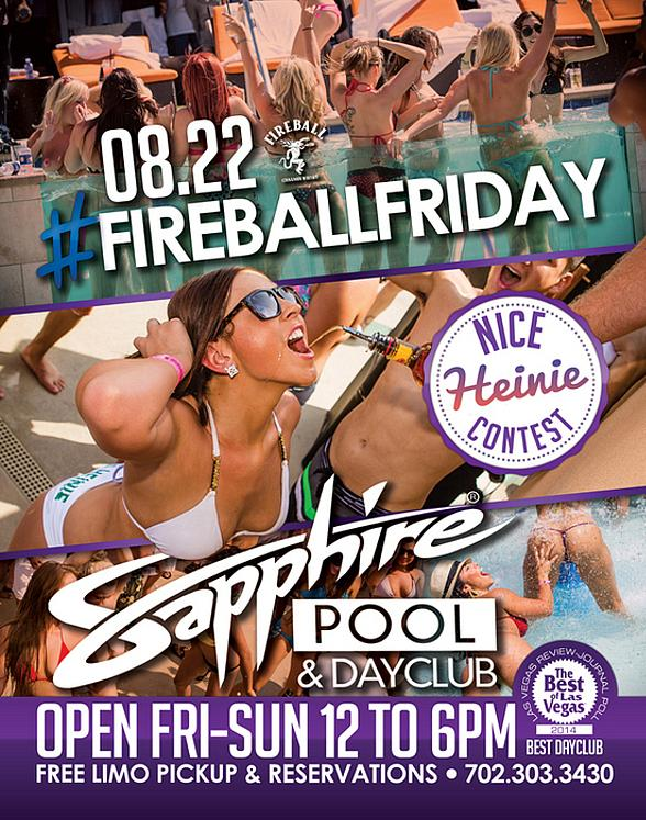 Sapphire Pool & Day Club to Host #FireballFriday with Music by HardNox August 22