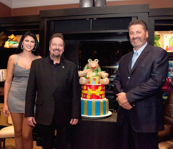 Taylor Makakoa, Terry Fator and President & COO of The Mirage, Felix Rappaport