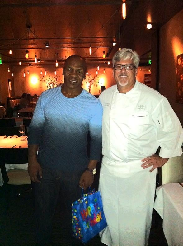 Mike Tyson with Executive Chef Chris Noble at 35 Steaks + Martinis