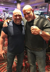 WWE Legend Bill Goldberg Dines at Andiamo Italian Steakhouse in the D Casino Hotel Las Vegas