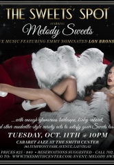 "Chanteuse Melody Sweets to bring ""The Sweets' Spot"" – A Decadent Evening of Tantalizing Treats to Cabaret Jazz at The Smith Center for One Night Only – Tuesday, October 11, 2016"