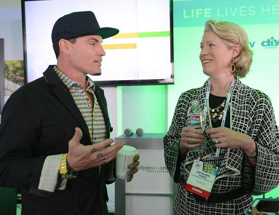 Vanilla Ice with Kathleen Finch, president of HGTV/DIY Network