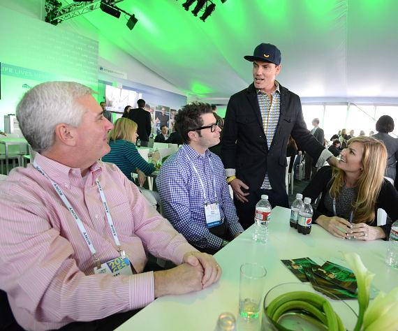 Vanilla Ice talks with guests at Scripps Networks Interactive Pavilion at 2014 CES in Las Vegas