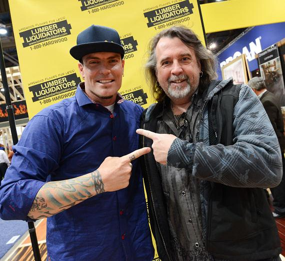 Vanilla Ice with tattoo artist Mario Barth at NAHB International Builders Show in Las Vegas