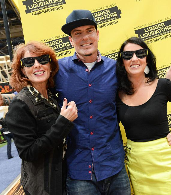 Vanilla Ice with fans at NAHB International Builders Show in Las Vegas