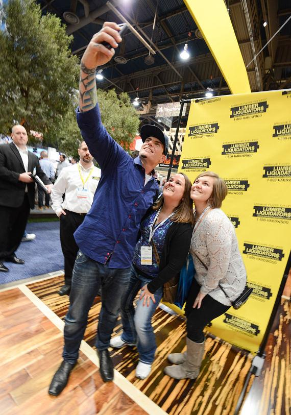 Vanilla Ice takes photos with fans at NAHB International Builders Show in Las Vegas