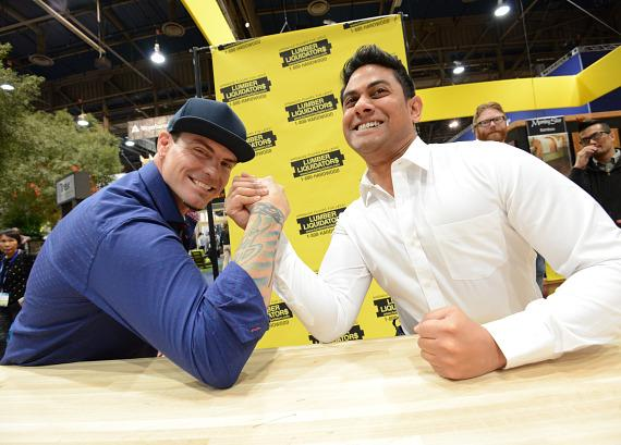Vanilla Ice with fan at NAHB International Builders Show in Las Vegas