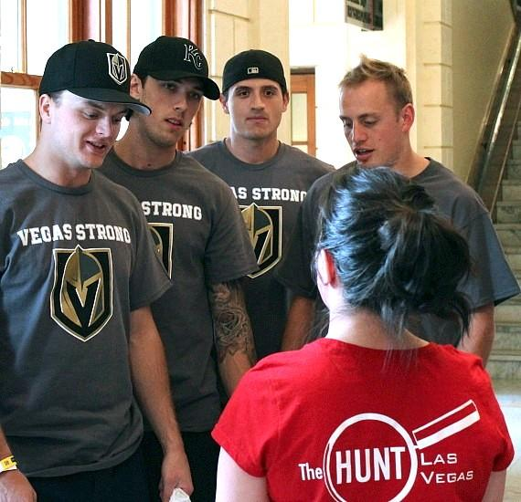 Vegas Golden Knights Players Visit the Mob Museum in Las Vegas