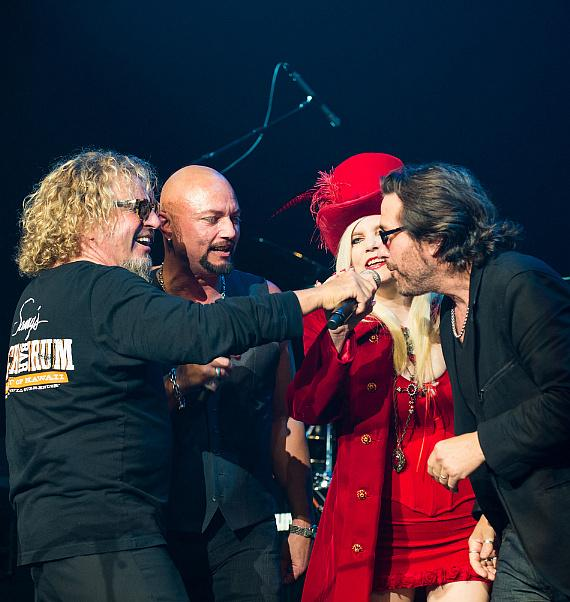 Sammy Hagar, Geoff Tate, Sally Steele and Kip Winger