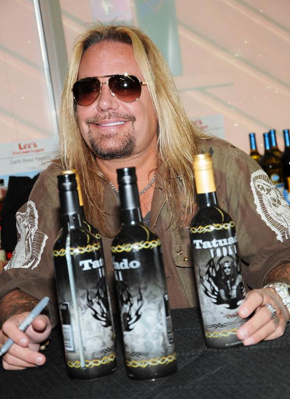 Vince Neil of Motley Crue Rocks Out His New Tatuado Vodka at Lee