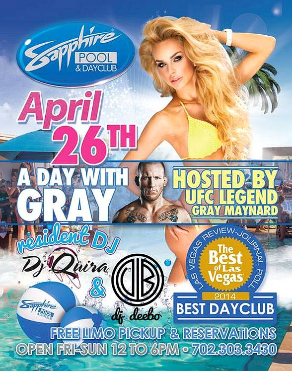Open Bar & More at Sapphire Pool & Day Club for Opening Weekend April 25-27; Grand Opening is May 2-4!