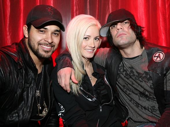 Wilmer Valderrama, Holly Madison, Criss Angel at LAX Nightclub