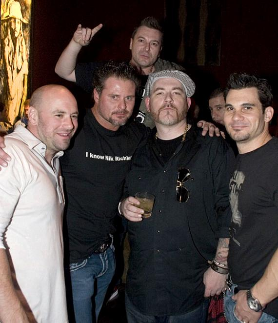 Dana White, Jason Giambi, DJ Lethal and Cory McCormic at Wasted Space (Photo credit: Hard Rock Hotel)
