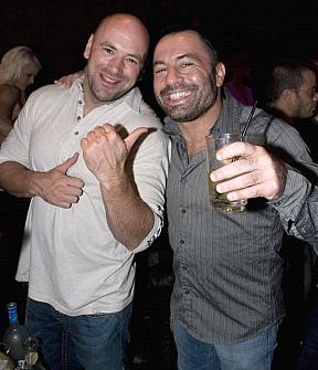 Joe Rogan and Jason Giambi Party at the Hard Rock