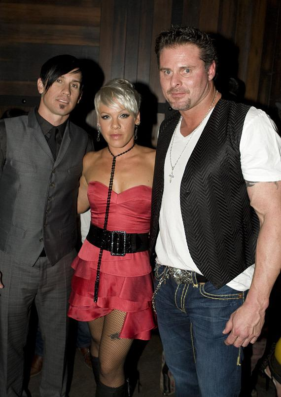 Hart, Pink and Jason Giambi at Wasted Space (Photo credit: Hard Rock Hotel & Casino)