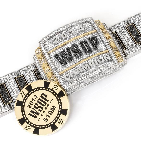2014 World Series of Poker Main Event Bracelet by Jason of Beverly Hills to Commemorate The Main Event's Tenth Year at Rio