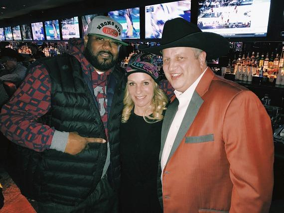 Wu Tang Clan Ghostface Killah with the D Casino Owner Derek Stevens and wife Nicole Parthum at LONGBAR Las Vegas
