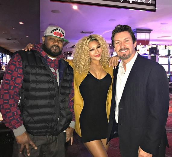 Wu-Tang Ghostface Killah with Alysse Reynolds and the D Casino Hotel Director Richard Wilk