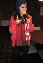 WWE Female Superstar Bayley spends evening at the D Hotel Casino in Las Vegas