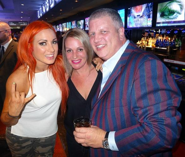 "See what happened when WWE female superstars Becky Lynch and Alexa Bliss avoided a ""Smackdown"" at the D Casino Hotel Las Vegas"