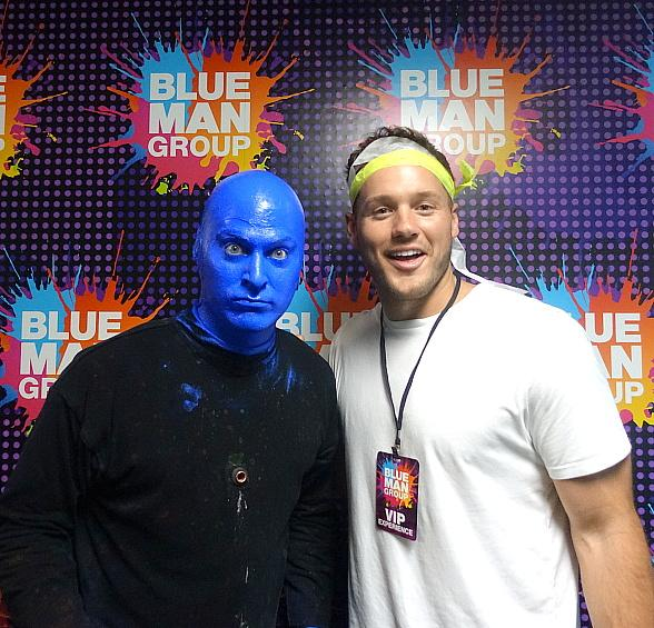 """Colton Underwood, Star of """"The Bachelor"""" Attends Blue Man Group Las Vegas"""