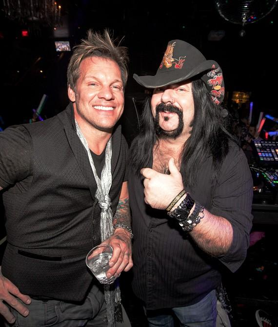 Chris Jericho and Vinnie Paul at Hard Rock Hotel & Casino