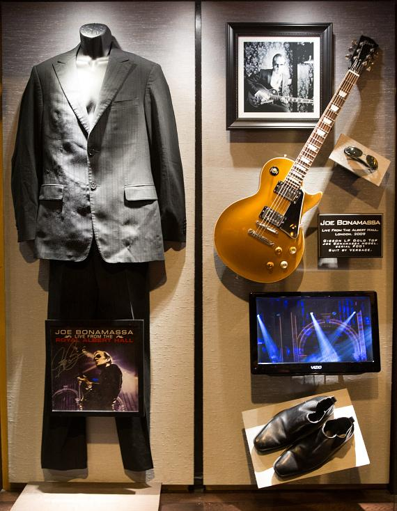Joe Bonamassa's memorabilia display Hard Rock Hotel & Casino