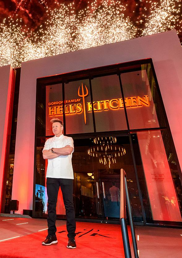 worlds first gordon ramsay hells kitchen restaurant marks official grand opening at caesars palace las vegas - Hells Kitchen Restaurant