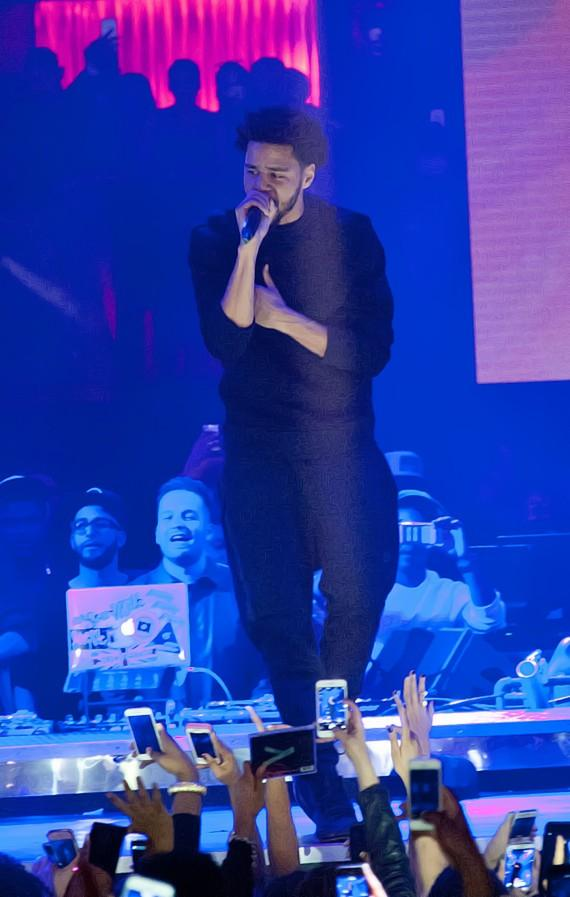 J. Cole performs at Drai's Nightclub for his birthday celebration on Feb. 1