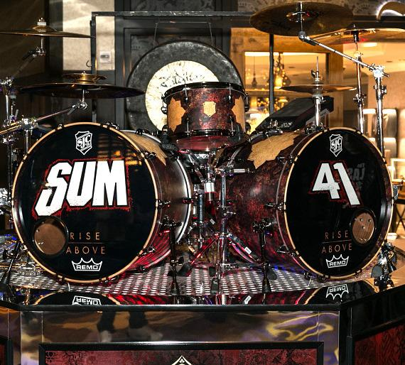 Shepard Fairey and Frank Zummo Unveil One-Of-A-Kind Drum Kit and Art Display at Hard Rock Hotel & Casino Las Vegas