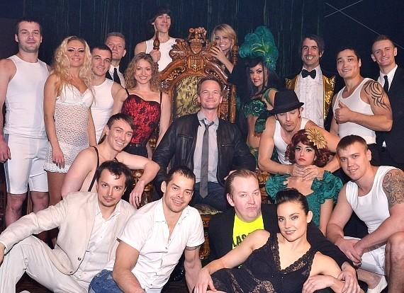 Neil Patrick Harris with cast of Absinthe