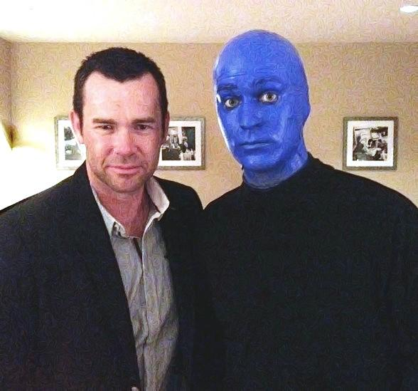 Phil Burton of Human Nature Spotted at Blue Man Group