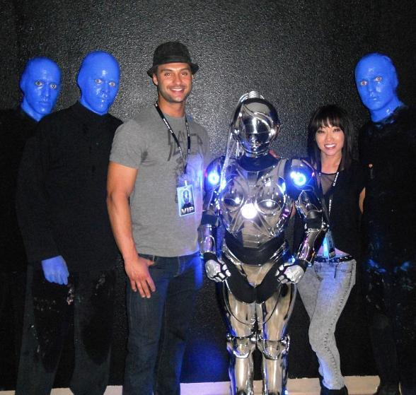 Chippendale james davis spotted at blue man group at monte carlo resort casino - Blue man group box office ...