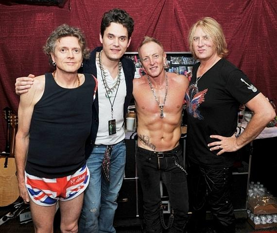 John Mayer with Def Leppard at The Joint