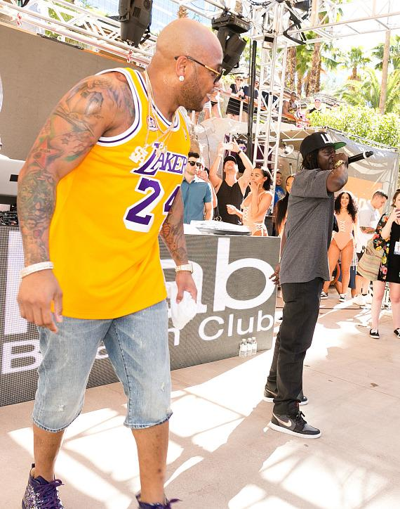 Flo Rida and Flavor Flav at Rehab Beach Club at Hard Rock Hotel & Casino