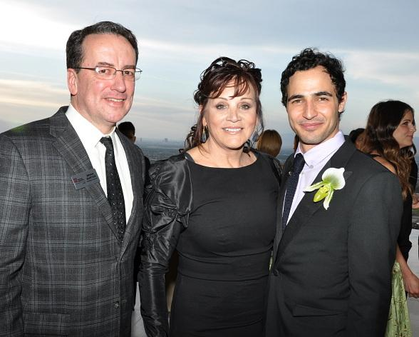 Three Square President & CEO Brian Burton, Gaming Pioneer and Three Square Board Member Diana Bennett, exclusive fashion designer Zac Posen