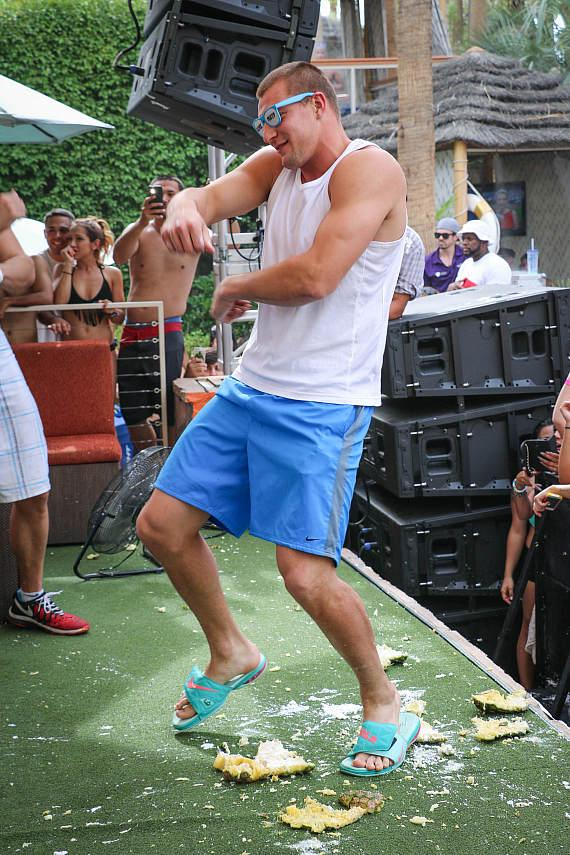 Rob Gronkowski  at REHAB at Hard Rock Hotel & Casino Las  Vegas