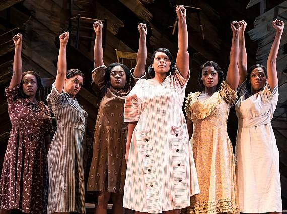 "Carrie Compere and company in ""The Color Purple"" on Broadway"