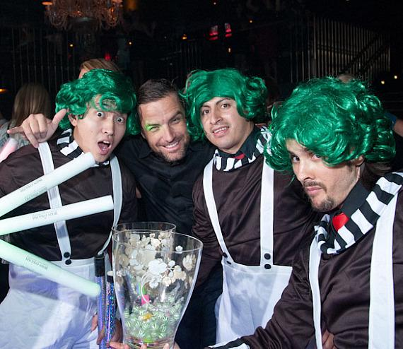 T.J. Lavin and characters at Body English Nightclub at Hard Rock Hotel Las Vegas