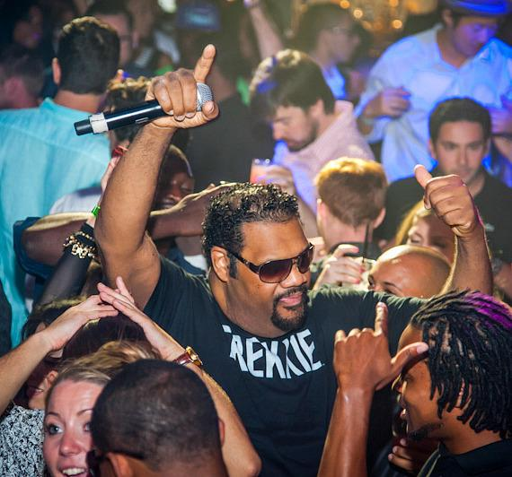 Fatman Scoop hosts at Body English at Hard Rock Hotel Las Vegas