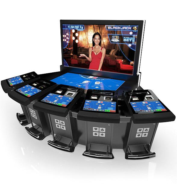 Electronic Blackjack Games that Show a Computerized Dealer on a Screen in Vegas