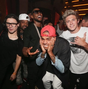 Usher, Chris Brown, Jermaine Dupri, Niall Horan, Tommy Lee & More at XS Nightclub