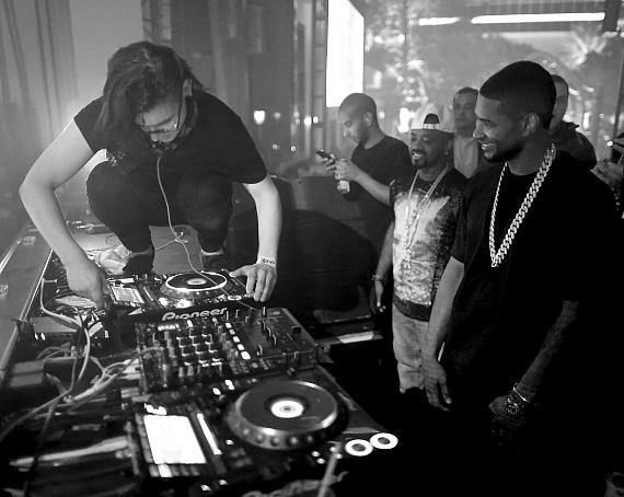 Skrillex and Usher at XS