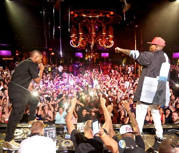 Usher and Chris Brown at XS