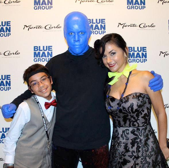 ABSINTHE Star Melody Sweets visits Blue Man Group in Monte Carlo Resort and Casino