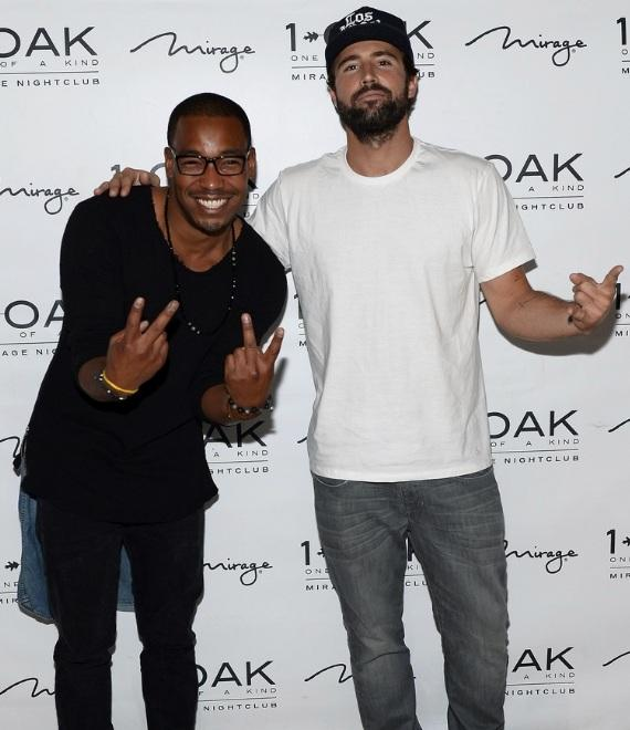 Brody Jenner and William Lifestyle on red carpet at 1 OAK Nightclub