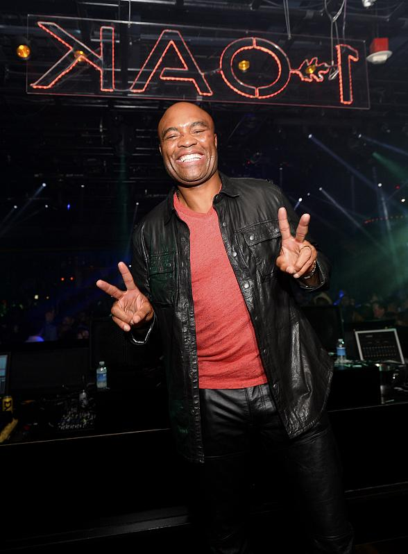 UFC Fighter Anderson Silva Hosts After Party at 1 OAK Las Vegas