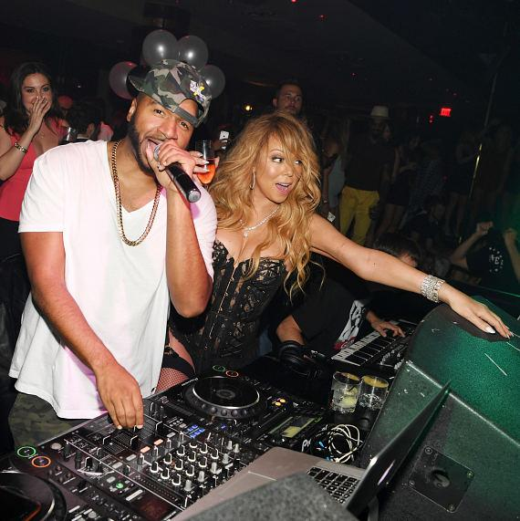 Mariah Carey and DJ Suss-One at 1 OAK Las Vegas