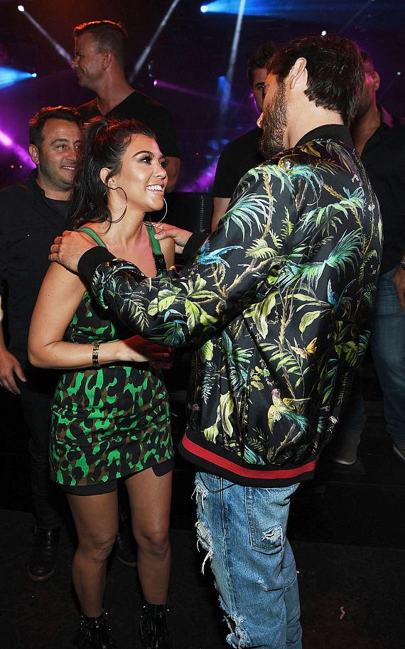 Scott Disick & Kourtney Kardashian at 1 OAK Nightclub