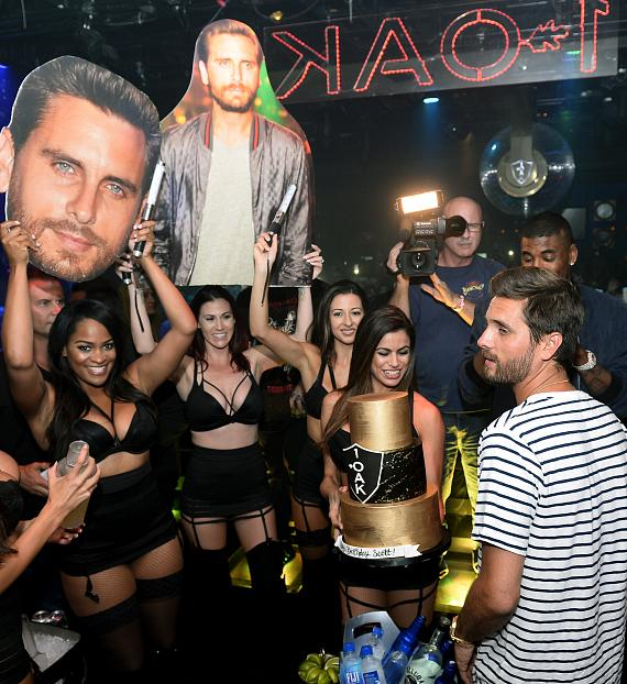 Scott Disick and friends at 1 OAK Nightclub Las Vegas